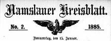 Namslauer Kreisblatt 1885-01-15 [Jg.40] Nr 2