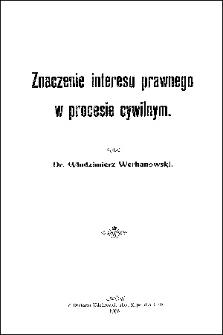 Znaczenie interesu prawnego w procesie cywilnym
