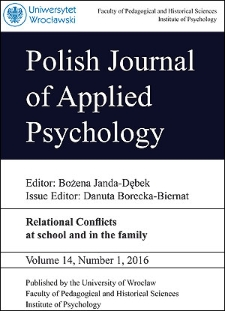 Polish Journal of Applied Psychology Volume 14, Number 1, 2016