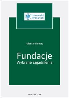 Fundacje : wybrane zagadnienia