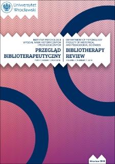 Bibliotherapy Review 2016, vol. VI, no. 1