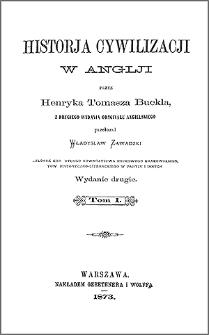 Historja cywilizacji w Anglji. T. 1