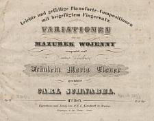 Variationen über den Mazurek Wojenny [...] Op. 23