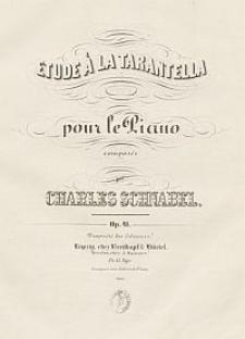 Etude à la tarantella pour le piano. Op. 41
