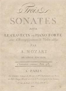 Trois sonates pour le clavecin ou piano-forté avec accompagnement de violon obligé : Basso