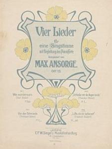 Lüfte, die ihr scherzet [z cyklu:] Vier Lieder : für eine Singstimme mit Begleitung des Pianoforte : Op. 15