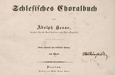 Schlesisches Choralbuch : 69. Werk