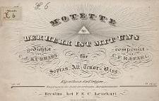 Motette: Der Herr ist mit uns : für Sopran, Alt, Tenor, Bass : Op. 16 : componirt von C. F. Rafael : gedichtet von C. J. Kudrass.