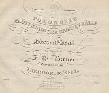 Polonoise zur Eröffnung der grossen Bälle im neuen Börsen Local zu Breslau : componirt von F. W. Berner : Clavierauszug von Theodor Ressel