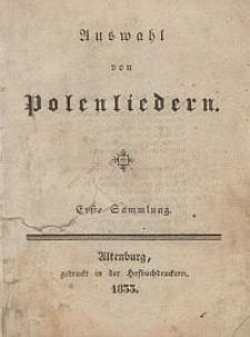 Auswahl von Polenliedern. Erste Sammlung