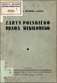 Zarys polskiego prawa wekslowego