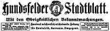 Hundsfelder Stadtblatt. Mit den Obrigkeitlichen Bekanntmachungen 1916-08-13 Jg. 12 Nr 65