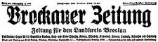 Brockauer Zeitung. Zeitung für den Landkreis Breslau 1931-11-08 Jg. 31 Nr 133