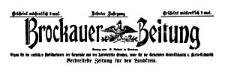 Brockauer Zeitung 1910-01-09 Jg. 10 Nr 4