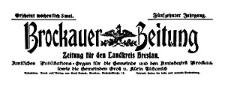 Brockauer Zeitung. Zeitung für den Landkreis Breslau 1915-01-22 Jg. 15 Nr 9