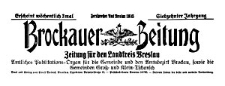 Brockauer Zeitung. Zeitung für den Landkreis Breslau 1917-03-18 Jg. 17 Nr 33