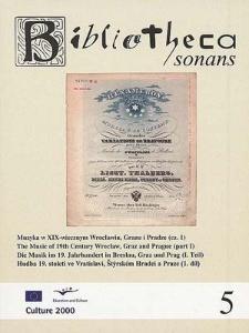 Muzyka w XIX-wiecznym Wrocławiu, Grazu i Pradze (cz. 1)