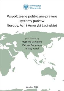 Współczesne polityczno-prawne systemy państw Europy, Azji i Ameryki Łacińskiej