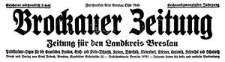 Brockauer Zeitung. Zeitung für den Landkreis Breslau 1926-11-03 Jg. 26 Nr 131