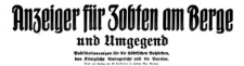 Anzeiger für Zobten am Berge und Umgegend 1920-10-27 Jg. 36 Nr 86