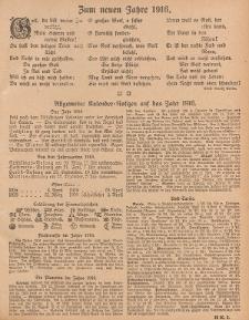 Hauskalender für den Kreis Grünberg in Schl. auf das Jahr 1916, 6. Ausgabe