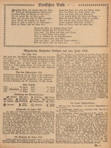 Hauskalender für den Kreis Grünberg in Schl. auf das Jahr 1919, 9. Ausgabe
