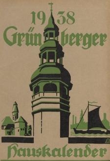 Grünberger Hauskalender: Heimatkalender für die Kreise Grünberg und Freystadt auf das Jahr 1938, 27. Ausgabe