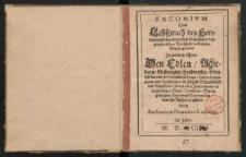 Encomium oder Lobspruch des Herrlichen und weitberümbten Trancks der Kayserlichen Stadt Breßlaw in Schlesien Schöps genandt...