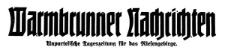 Warmbrunner Nachrichten. Unparteiische Tageszeitung für das Riesengebirge. 1929-01-10 [1929-01-11] Jg. 48 Nr 8 [9]