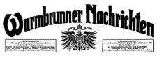 Warmbrunner Nachrichten. Verbreitetstes Publikationsorgan für Bad Warmbrunn und Umgegend 1909-01-30 Jg. 27 Nr 17