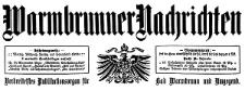Warmbrunner Nachrichten. Verbreitetstes Publikationsorgan für Bad Warmbrunn und Umgegend 1909-11-28 Jg. 27 Nr 186