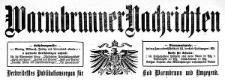 Warmbrunner Nachrichten. Verbreitetstes Publikationsorgan für Bad Warmbrunn und Umgegend. 1910-09-04 Jg. 28 Nr 135