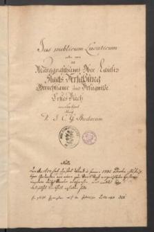 Staatsrecht von Oberlausitz