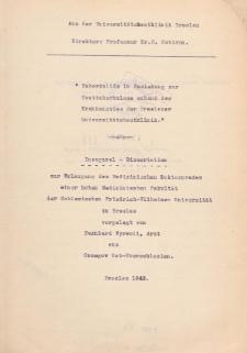 Tuberkulide in Beziehung zur Hauttuberkulose anhand des Krankengutes der Breslauer Universitätshautklinik.