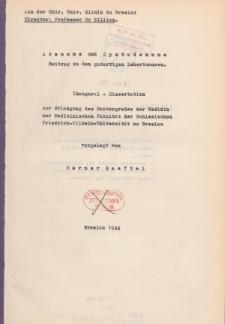 Adenome und Cystadenome : Beitrag zu den gutartigen Lebertumoren.