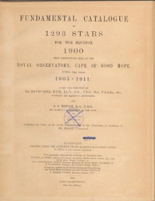 Fundamental catalogue of 1293 stars for the equinox 1900