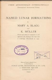 Named lunar formations