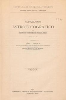 Catalogo Astrofotografico del Observatorio Astronomico de Tacubaya, Mexico Zona de -16°