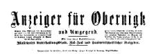 Anzeiger für Obernigk und Umgegend 1916-01-03 Jg. 23 Nr 1