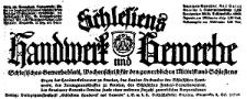 Schlesiens Handwerk und Gewerbe. Schlesisches Gewerbeblatt Wochenschrift für den gewerblichen Mittelstand Schlesiens 1933-09-23 Jg.14 Nr 39