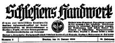Schlesiens Handwerk. Organ des Schlesischen Handwerks 1935-09-28 Jg. 16 Nr 39