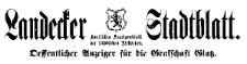 Landecker Stadtblatt. Oeffentlicher Anzeiger für die Grafschaft Glatz 1922-01-04 Jg. 49 Nr 1