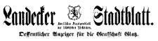 Landecker Stadtblatt. Oeffentlicher Anzeiger für die Grafschaft Glatz 1922-07-29 Jg. 49 Nr 31