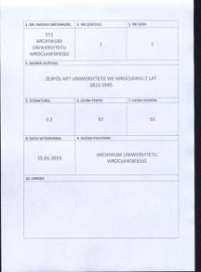 Verzeichnis der in dem Universitäts-Archiv zu Breslau befindlichen Original-Urkunden, vor dem 1839