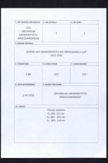 Personal-Verzeichnis der Schlesischen Friedrich Wilhelms-Universität zu Breslau, Winter-Semester 1919/20 - WS 1920/21