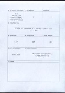 Personal-Verzeichnis der Schlesischen Friedrich Wilhelms-Universität zu Breslau, Sommer-Semester 1921