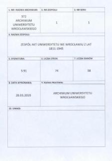 Vorlesungs- und Personal-Verzeichnis der Schlesischen Friedrich Wilhelms-Universität zu Breslau, Winter-Semester 1925/26