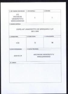 Vorlesungs- und Personal-Verzeichnis der Schlesischen Friedrich Wilhelms-Universität zu Breslau, Winter-Semester 1926/27