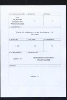 Vorlesungs- und Personal-Verzeichnis der Schlesischen Friedrich Wilhelms-Universität zu Breslau, Sommer-Semester 1934