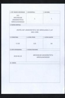 Vorlesungs- und Personal-Verzeichnis der Schlesischen Friedrich Wilhelms-Universität zu Breslau, Sommer-Semester 1938